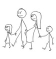 cartoon family man and pregnant woman vector image