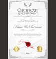 certificate or diploma retro template 05 vector image vector image