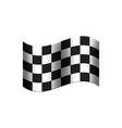 chequered flag with black and white squares shown vector image vector image