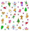 christmas set element doodles vector image vector image