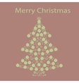 Christmas tree ball card background vector image vector image