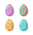 colored easter eggs pattern with different style vector image vector image