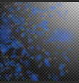 dark blue flower petals falling down fabulous rom vector image