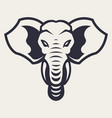 elephant mascot icon vector image vector image