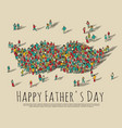 fathers day crowd people moustache symbol vector image