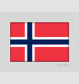 flag of norway national ensign aspect ratio 2 to vector image