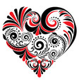 folk floral heart vector image