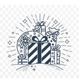 gifts linear style vector image