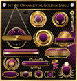 Golden framed labels vector | Price: 3 Credits (USD $3)