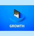 growth isometric icon isolated on color vector image