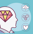 human mind concept vector image