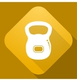 icon of Dumbbell with a long shadow vector image vector image