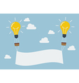 Lightbulb balloons with banner vector image vector image