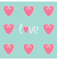 Love card with pink hearts vector image vector image