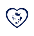 love king dog concept logo icon vector image vector image
