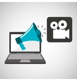 marketing digital movie film concept vector image