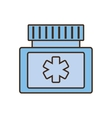medicine bottle protein capsule vector image