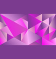 minimal dynamic colorful gradient triangle mosaic vector image vector image