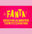 modern playful fun font and alphabet vector image