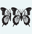 Monarch Butterfly with open wings vector image vector image