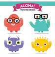 monster cartoon set vector image