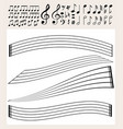 music notes and scale template vector image vector image