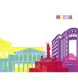 Nicosia skyline pop vector image vector image