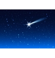Night sky Star drops in night sky make wish vector image vector image