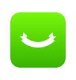 origami banner icon digital green vector image vector image
