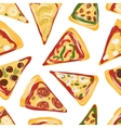 Pieces of pizza seamless pattern for your design vector image vector image