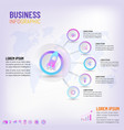 presentation business infographic template vector image vector image