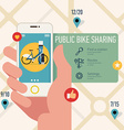 Public Bike Sharing on your Android vector image