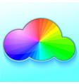 rainbow in cloud vector image vector image