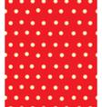 red polka seamless vector image vector image
