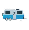 retro travel trailer mobile home for summer vector image vector image