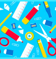 school supplies or office tools seamless pattern vector image vector image