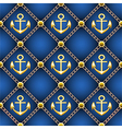 seamless anchor pattern vector image vector image