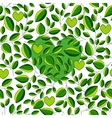 seamless ecological pattern with green tea leaf vector image