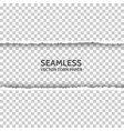 seamless torn paper on transparent background vector image vector image