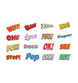 set of comic phrases vector image vector image