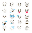 set of cute emoticon vector image vector image