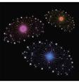 Set of Fireworks vector image