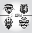 set soccer badge logo vector image