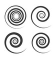 spiral and swirl motion elements set on white vector image vector image