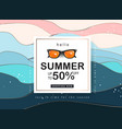 summer sale design with paper cut abstract wave vector image