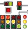 traffic lights set vector image vector image