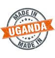Uganda orange grunge ribbon stamp on white vector image vector image