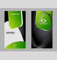 vertical business card set vector image vector image