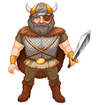 Viking warrior vector image vector image