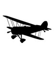 vintage biplane silhouette vector image vector image